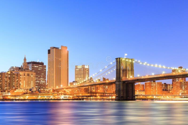 Brooklyn-Ansicht von Manhattan, New York City lizenzfreie stockfotografie