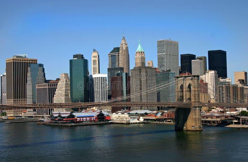Download Brooklyn-Brücke stockfoto. Bild von seehafen, fluß, cityscape - 33790