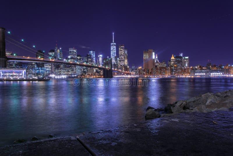 Brooklyn-Brücke Manhattan New York lizenzfreie stockfotos