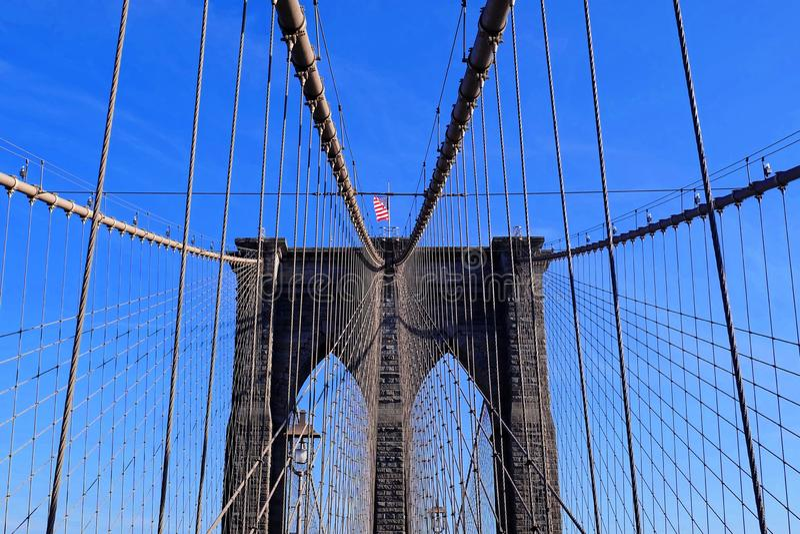 Brooklyn-Brücke in Manhattan, New York City, USA stockbilder