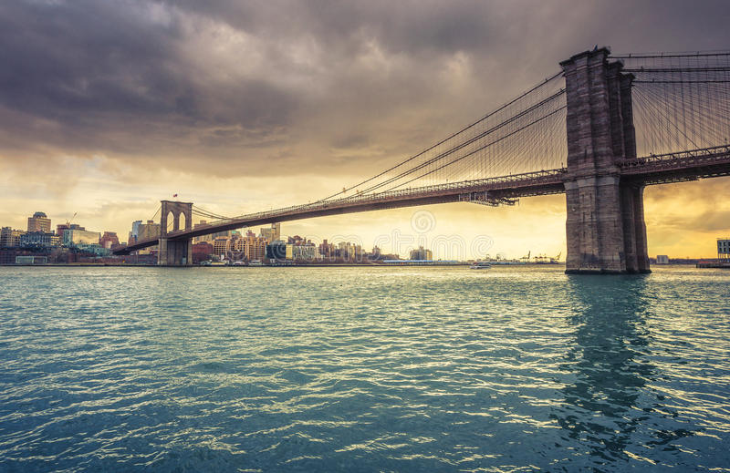 Brooklyn-Brücke New York lizenzfreies stockfoto