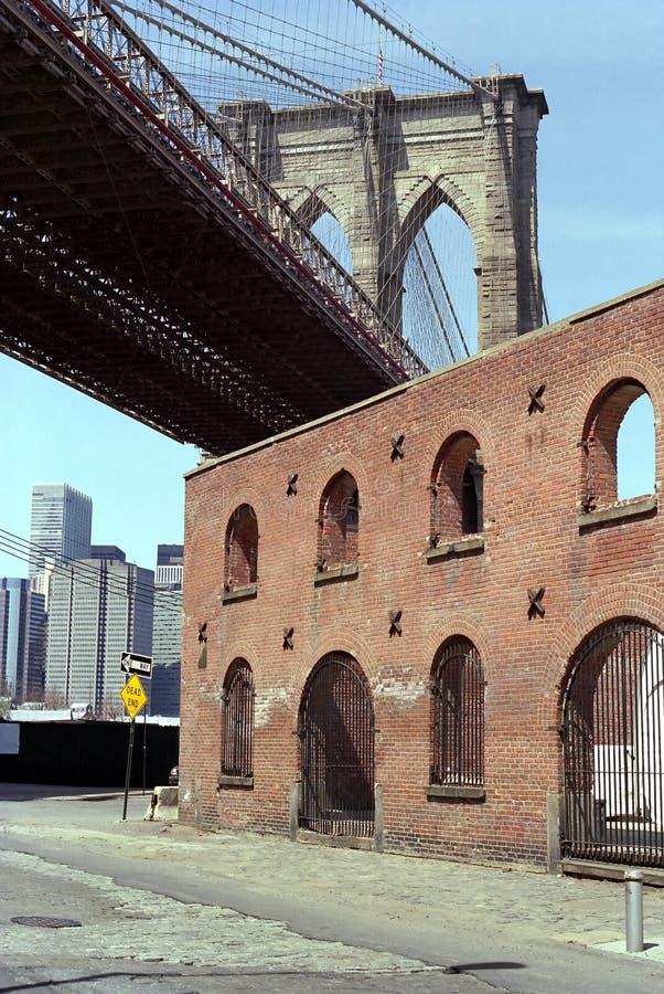 Brooklyn-Brücke New York stockbild