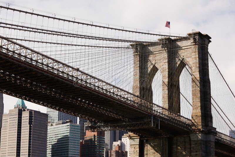 Brooklyn-Brücke in New York City stockbilder