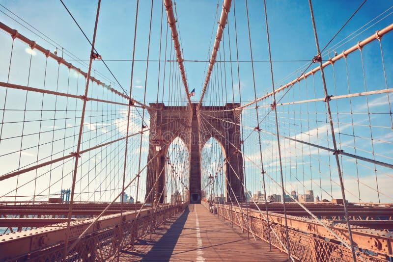 Brooklyn-Brücke in New York City, NY, USA stockfotografie