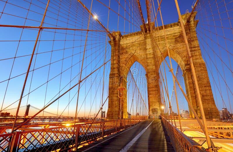 Brooklyn-Brücke, New York City, USA stockbild