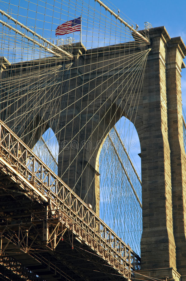 Brooklyn-Brücke NYC stockfotografie
