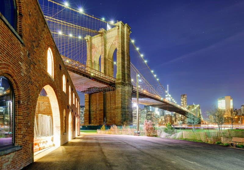Brooklyn-Brücke, NYC stockbild