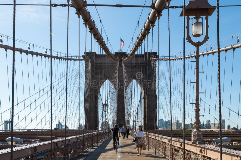 Brooklyn-Brücken-Turm, New York City lizenzfreies stockbild