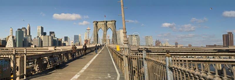 brooklyn bridżowa panorama zdjęcia royalty free