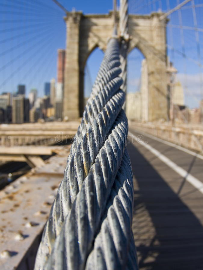 Download Brooklyn Bridge stock image. Image of cable, financial - 12823167