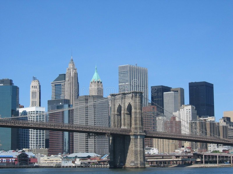 Download Brooklyn Bridge stock image. Image of city, york, hudson - 14001