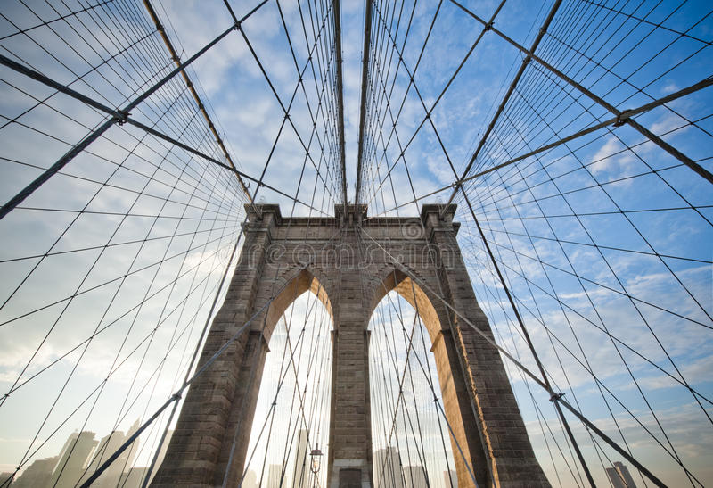 Download Brooklyn Bridge stock photo. Image of panorama, skyline - 14732176
