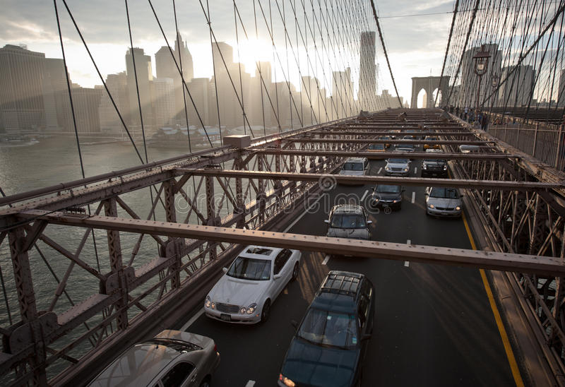 Download Brooklyn Bridge editorial photography. Image of exterior - 14732277