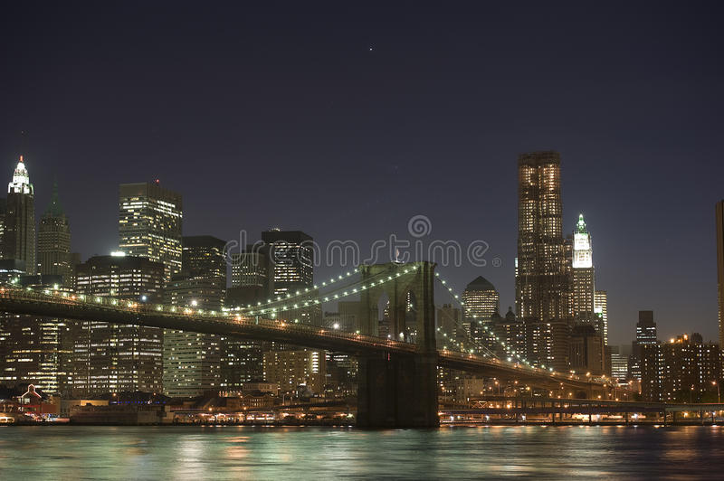 Brooklyn and Manhattan bridge royalty free stock images