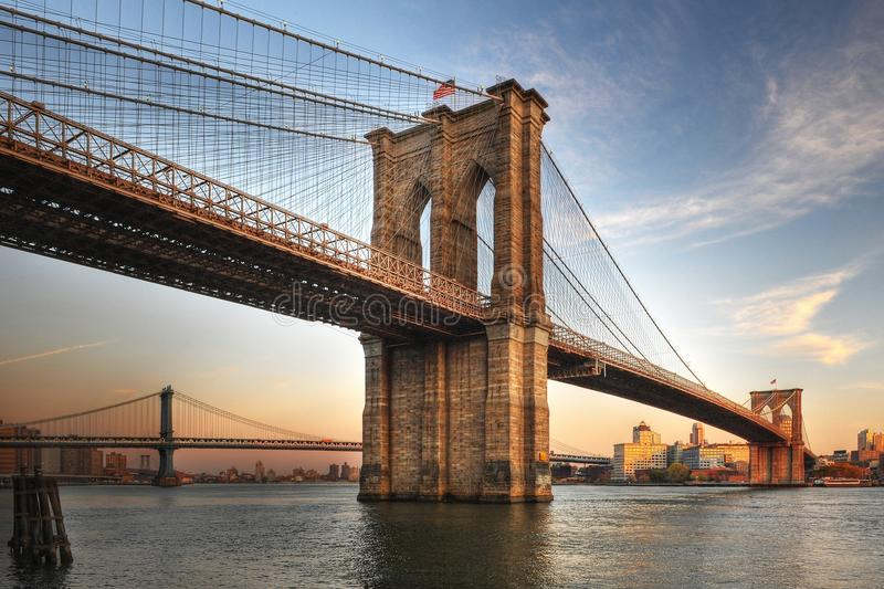 Download Brooklyn Bridge stock photo. Image of patchy, outside - 15432576