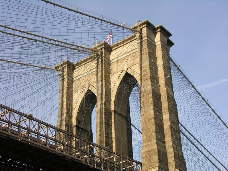 Download Brooklyn Bridge stock photo. Image of building, manhattan - 466656