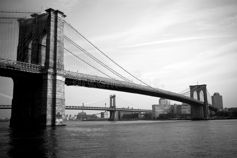 Download Brooklyn Bridge stock image. Image of detail, skyline - 7565687