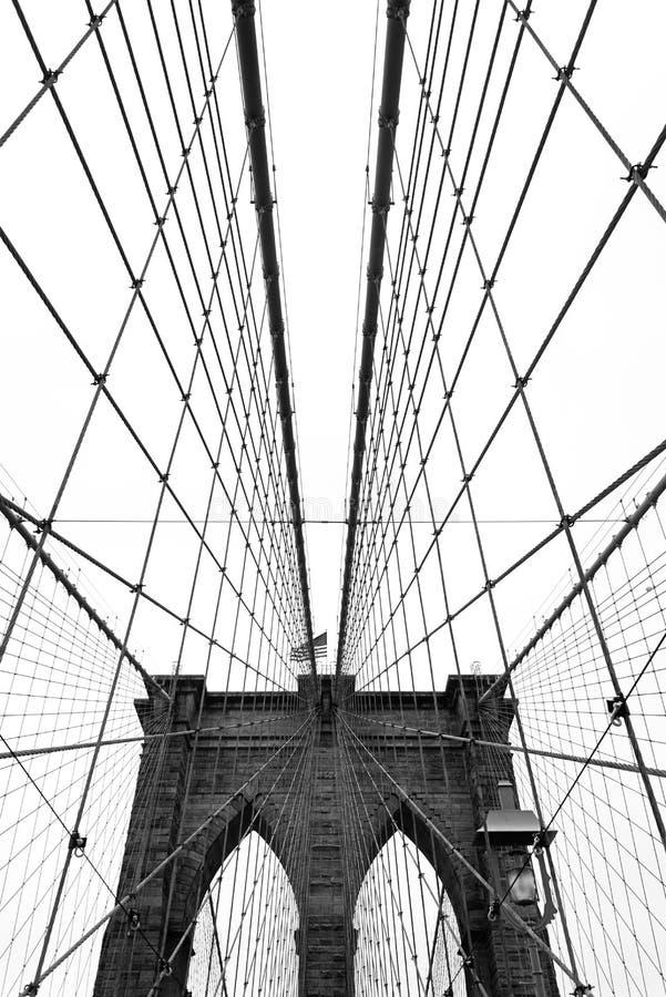 Brooklyn Bridge, Black and White royalty free stock photography