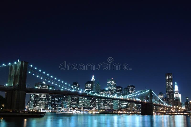 Download Brooklyn Bridge And Manhattan Skyline At Night Stock Photo - Image: 16257702