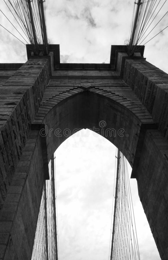 Brooklyn Bridge, New York, New York, États-Unis photo stock