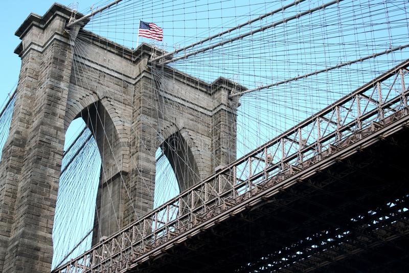Brooklyn bridge, New York stock photo