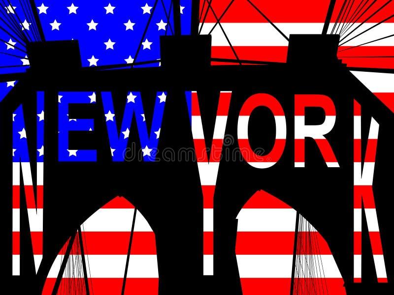 Download Brooklyn bridge New York stock vector. Image of stripes - 2289611