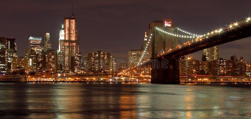Brooklyn Bridge & New York City royalty free stock photo