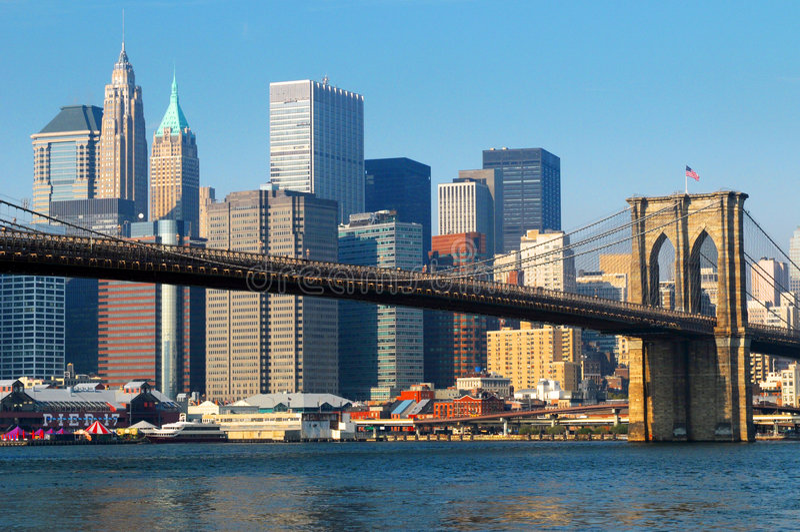 Download Brooklyn Bridge New York City Stock Photo - Image of outdoor, landmark: 7535728