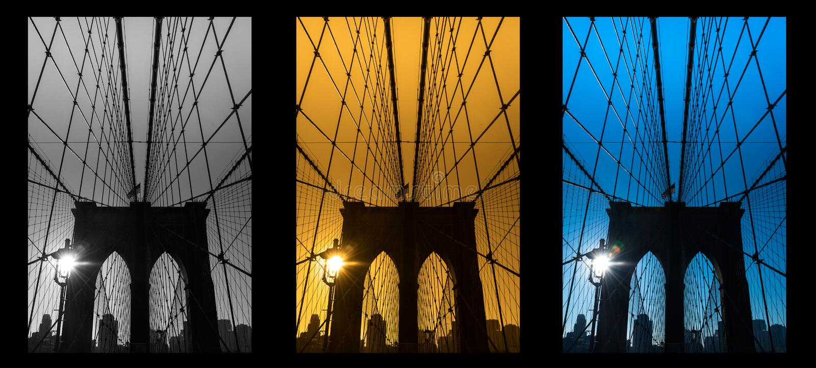 The Brooklyn bridge, New York City. USA. stock photography