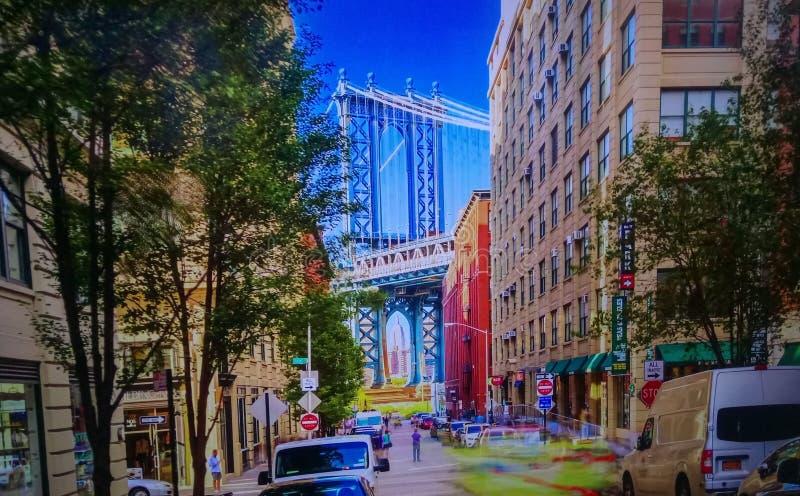 Brooklyn Bridge, New York, United States. The Brooklyn Bridge is one of the icons of New York City stock photography