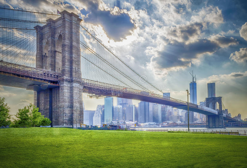 Download Brooklyn Bridge stock photo. Image of scene, skyline - 33042502