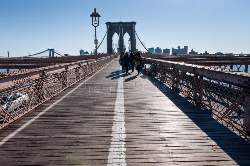 Brooklyn Bridge in New York royalty free stock images