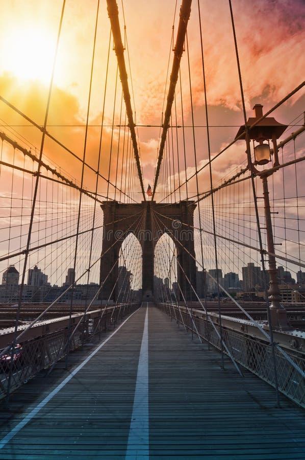 Brooklyn bridge, New York, USA royalty free stock image