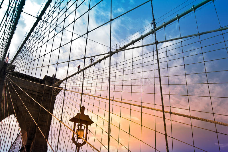 Brooklyn bridge, New York, USA royalty free stock photos