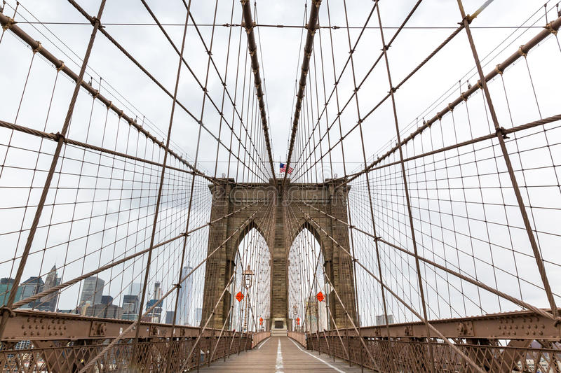Brooklyn Bridge, nobody, New York City USA stock photography