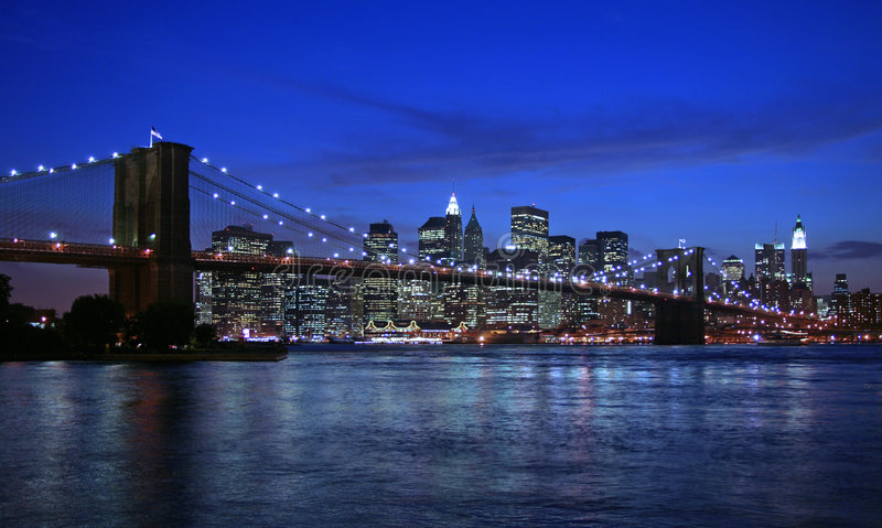 Brooklyn Bridge and NYC royalty free stock images