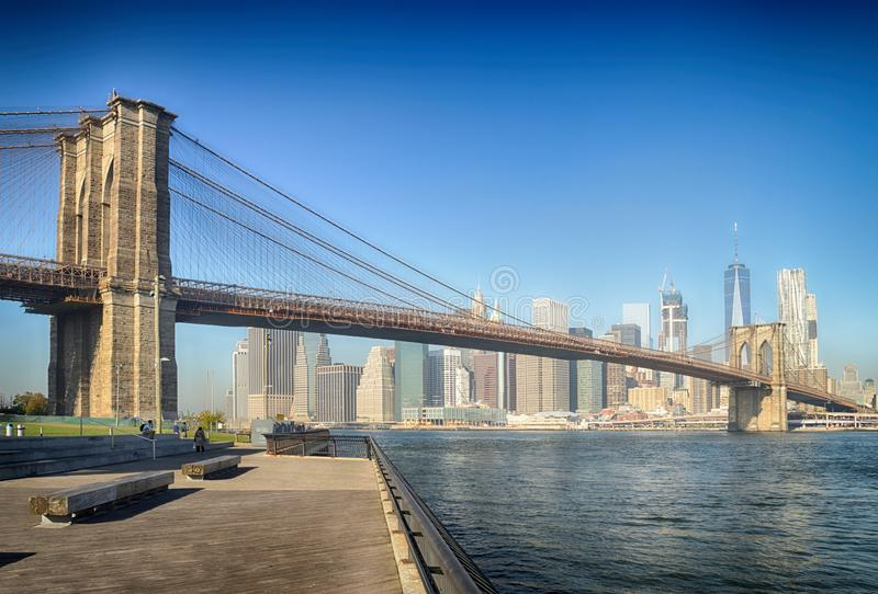 Brooklyn Bridge, NYC stock photography