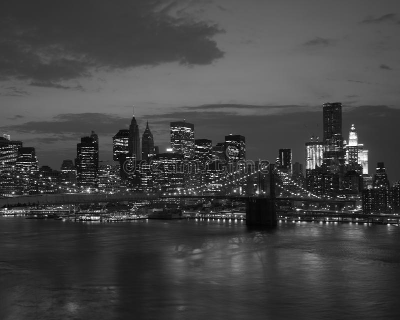 Download Brooklyn Bridge And NYC Skyline At Sunset Stock Photo - Image: 20307006