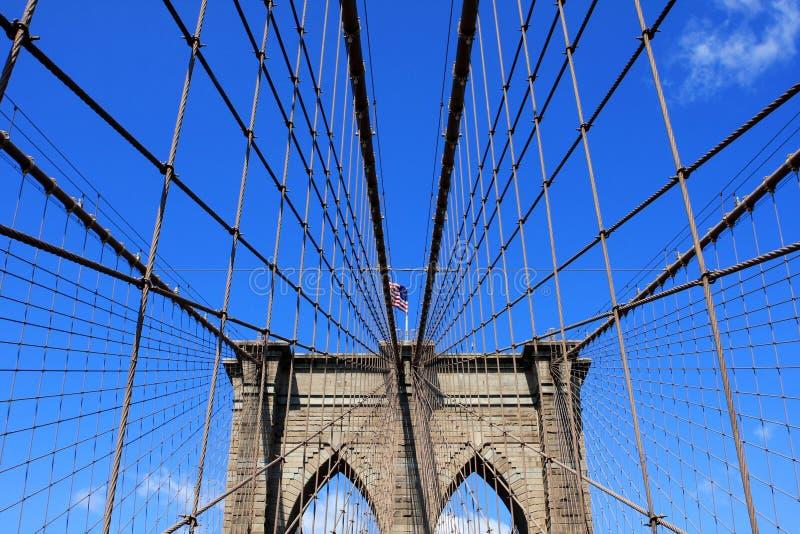 Brooklyn Bridge, New York City, USA. The Brooklyn Bridge over East River in New York City, USA stock image