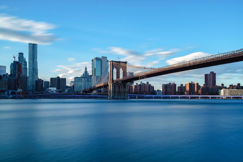 Brooklyn bridge park stock images