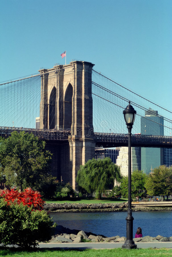 Brooklyn Bridge Park New York USA. Brooklyn Bridge Park is popular with Dumbo area residents of Brooklyn, NYC royalty free stock photo