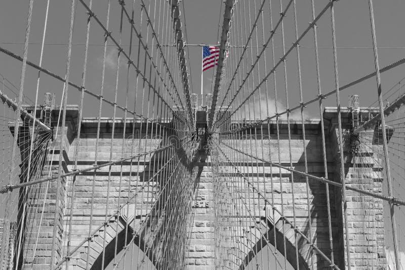 Brooklyn brigge w Nowy Jork zdjęcie royalty free
