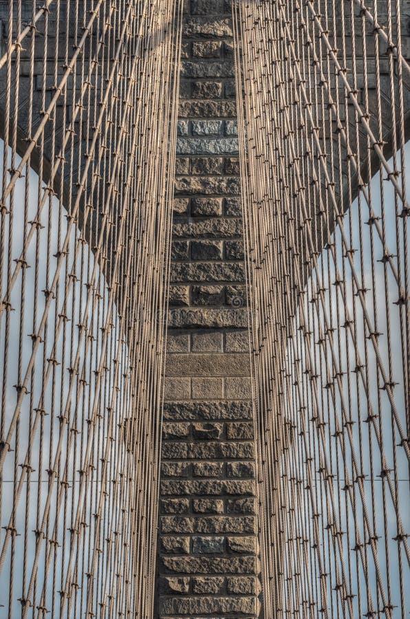Brooklyn bro - abstrakt begreppdetaljer - New York City arkivbilder