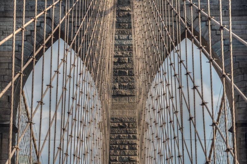 Brooklyn bro - detalj New York City, NY fotografering för bildbyråer