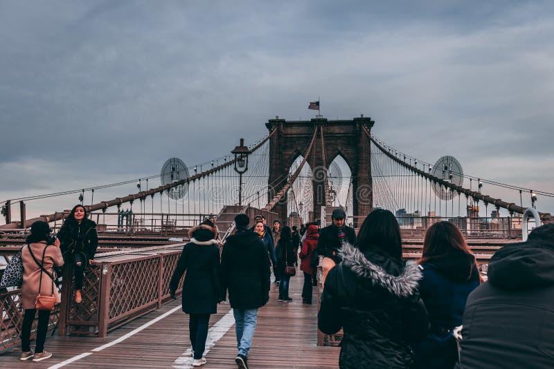 Brooklyn bro nya Yorke royaltyfria foton