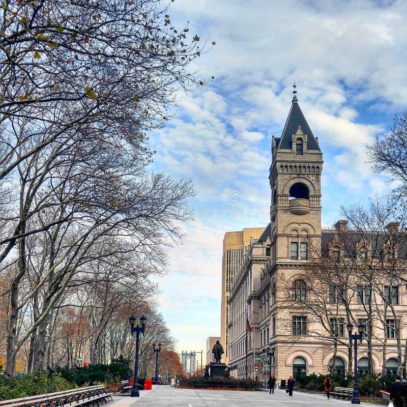 Brooklyn Cadman Plazastolpe - kontor arkivfoton