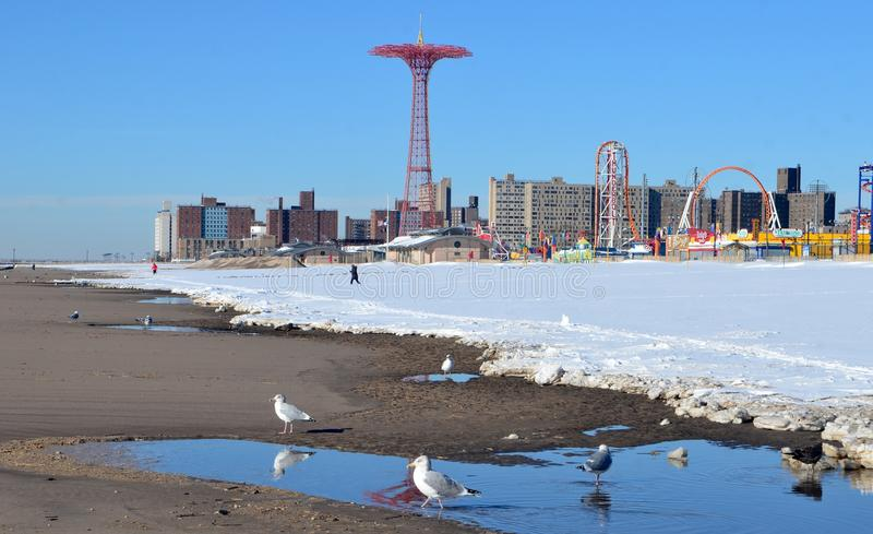 Brooklyn, Coney Island, NYC, Etats-Unis images libres de droits