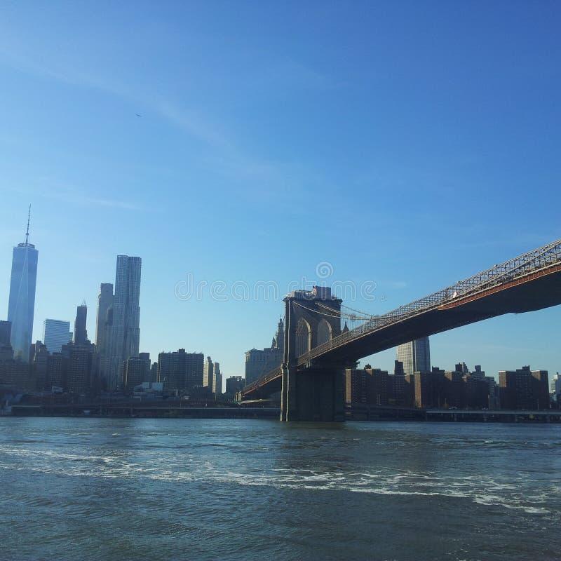 Brooklyn faisant face à Manhattan photo libre de droits