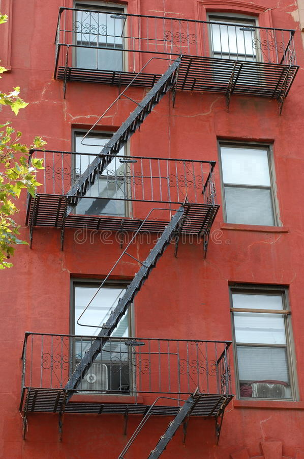 Brooklyn flats with fire escape stock images