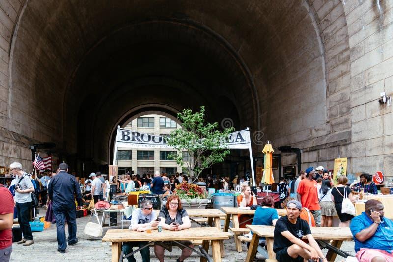 Brooklyn Flea Market in DUMBO in New York royalty free stock photos